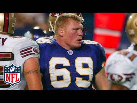 WWE & UFC Star Brock Lesnar Preseason Highlights (2004) | NFL