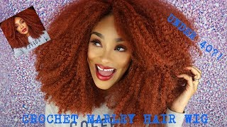 HOW TO MAKE A FIERY RED/ORANGE CROCHET MARLEY HAIR WIG FOR UNDER $40