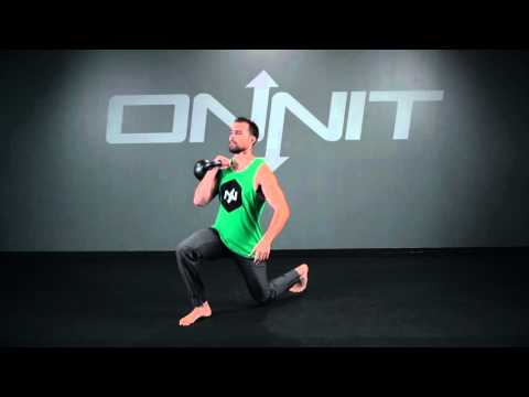 One Arm Kettlebell Forward Back Lunge