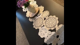 Transform Your Doilies Into A Beautiful Table Runner !!!!!
