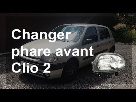 Remplacer un phare avant (gauche & droit) sur une Renault Clio 2