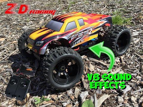 V8 ENGINE Sound Generator Speaker System Demo on the ZD Pirates 2 Monster Truck!