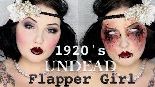 1920's Zombie Flapper Makeup Tutorial / Jordan Hanz