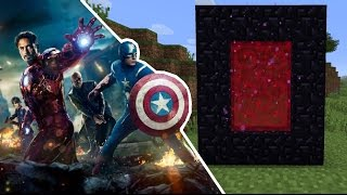 HOW TO MAKE A PORTAL TO THE AVENGERS!! Minecraft