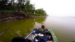 Заблудившись в тумане нашли волшебную протоку с рыбой!Рыбалка на реке в июле. Спиннинг.