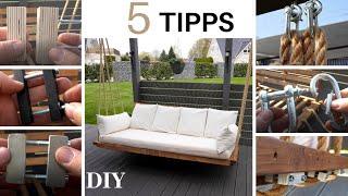 Hollywoodschaukel 5 TIPPS zum Aufhängen/Porch swing 5 Tips DIY/DIY swing/How to hang a porch swing