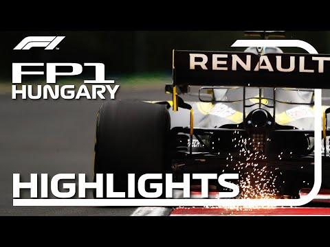 F1 2020 第3戦ハンガリーGP FP1ハイライト動画