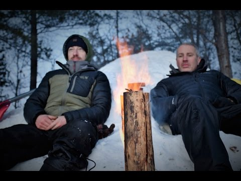 2 Night Winter Snowshoe Bushcraft, Camping in the Snow.