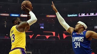 LeBron Returns After Missing 17 Games vs Clippers! 2018-19 NBA Season