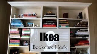 How To Make An Ikea Bookcase Look Expensive- Hack