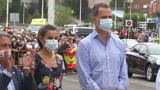 """Llegada de SS.MM. los Reyes al Mercado Nacional de Ganados """"Jesús Collado Soto"""" de Torrelavega"""