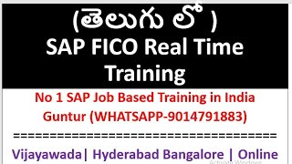 (Telugu) SAP FICO Basics| Online Training By Chanu sk