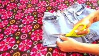 SUPER EASY DIY For Distressed Denim Shorts   *NO SEW*   C NICOLE