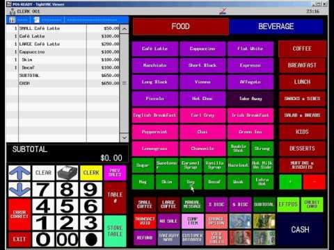 Uniwell4Cafes HX-2500 POS Terminal Orientation