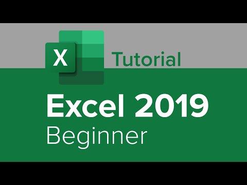 Excel 2019 Beginner Tutorial