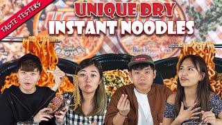 Unique Flavours Of Dry Instant Noodles! | Taste Testers | EP 113