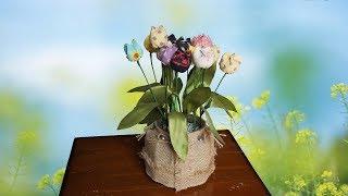 DIY Handmade Flowers From Fabric   Easy Fabric Flowers Tutorial
