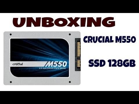 Unboxing Crucial M550 Disco Duro SSD 128GB