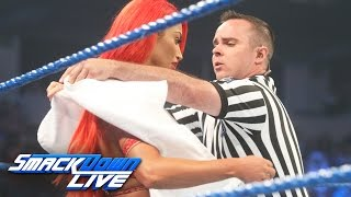 Eva Marie has a wardrobe malfunction before her match vs. Becky Lynch: SmackDown Live, Aug. 9, 2016