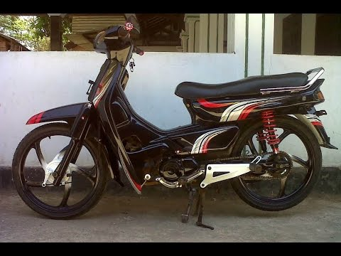 Video Motor Trend Modifikasi | Video Modifikasi Motor Honda Astrea Grand Warna Hitam Terbaru Part 2