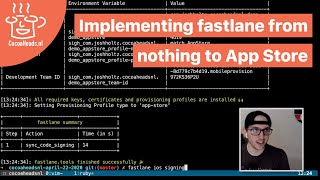 Implementing fastlane from nothing to App Store, Josh Holtz (English)