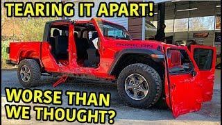 Rebuilding A Wrecked 2020 Jeep Gladiator Rubicon Part 2