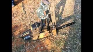 DIY chainsaw sawmill.