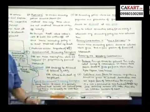 IPCC Accounts video classes by CA Parveen Sharma (part 3)
