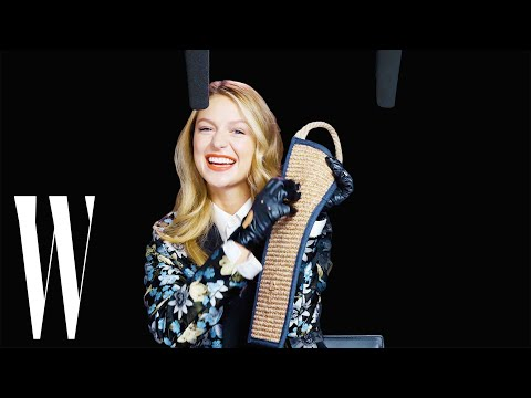 Supergirl Melissa Benoist Explores ASMR with Wonder Woman Bracelets and Catwoman Claws | W Magazine