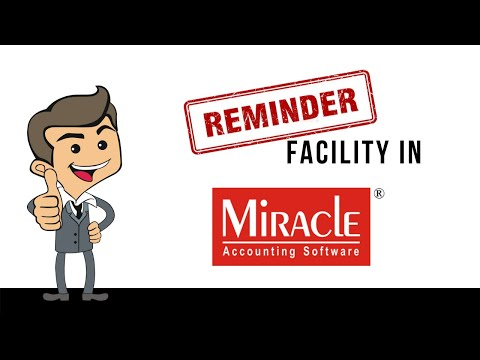 Reminder Facility in Miracle Accounting Software