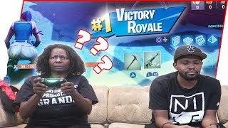Teaching My Mom Fortnite! Who Knew She'd Be THIS GOOD! - Fortnite Gameplay