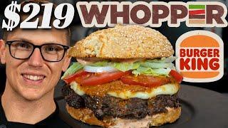 $219 Burger King Whopper Taste Test | Fancy Fast Food