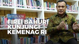 Ketua KPK Firli Bahuri Temui Fachrul Razi di Kantor Kemenag