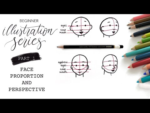 Beginner Illustration Series PART 1: Face Proportions And Perspective