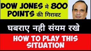 Dow Jones Down by 800 points : How to play ? by CA Ravinder Vats