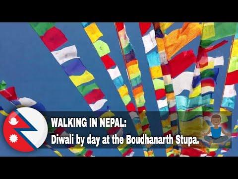 #18 Diwali by day. Kora at Boudha Stupa. Kuku Tihar! (1080p).
