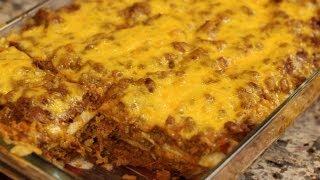Burrito Pie - Delicious Mexican Casserole by Rockin Robin Cooks