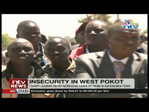 West Pokot leaders decry increasing cases of crime in Kapenguria town