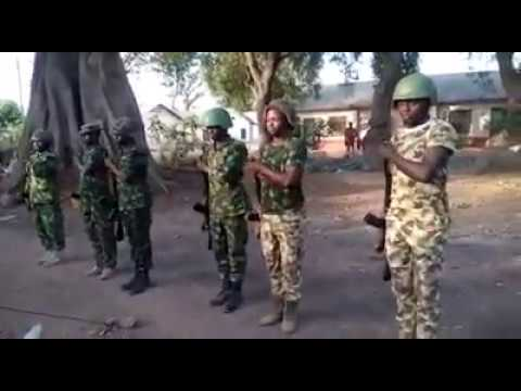 Nigeria Army Parade Command in Hausa and Translated in English