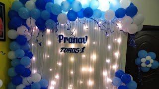 My Baby Birthday Party Decoration Vlog |Birthday Decoration Using Balloon At Home|BirthdayDecoration
