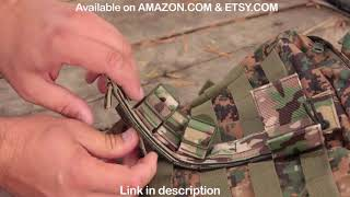 This is the best way How to attach any knife sheath to MOLLE webbing