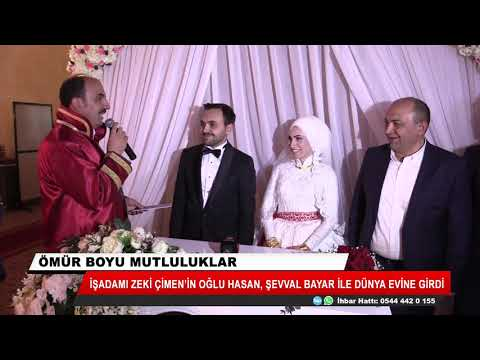 İşadamı Zeki Çimen'in oğlu Hasan, Şevval Bayar ile dünya evine girdi