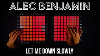 Alec Benjamin - Let Me Down Slowly (Fairlane Remix) (Dual Launchpad Cover) (4K)