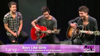 Boys Like Girls - The Great Escape (Live 95.5 in The Bing Lounge)