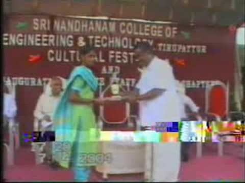 Sri Nandhanam College of Engineering and Technology video cover1