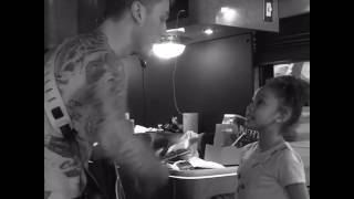 Mgk and his Daughter singing At my best song .