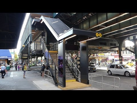BMT Astoria Line: Before & After Old & New Stations from 39th Ave to 30th Ave(On Board R68A W Train)