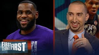 Nick Wright reacts to LeBron and Giannis' All-Star Draft & East Elite   NBA   FIRST THINGS FIRST
