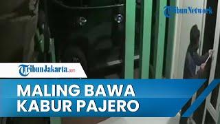 Viral Video Detik-detik 2 Maling di Bekasi Bawa Kabur Mobil Pajero, Aksinya Terekam CCTV