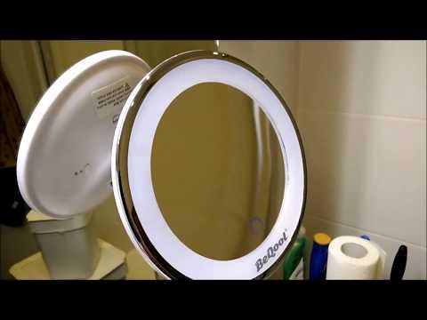 BeQool 7X Kosmetikspiegel mit LED Beleuchtung / USB oder Batterie Betrieb